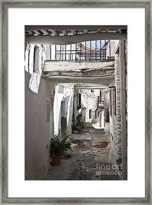 Framed Print featuring the photograph Puebla Blanca Capileira by Heiko Koehrer-Wagner