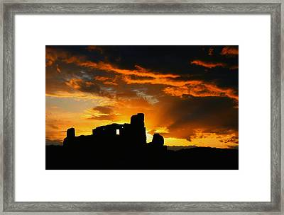 Pueblo Abo Ruins Framed Print by Dean Leh