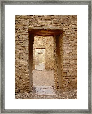 Pueblo Bonito Doors Framed Print by Christina Solstad