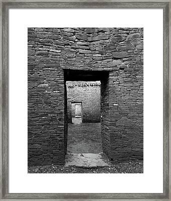 Pueblo Bonito Doors Framed Print by Joseph Smith