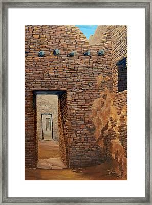 Pueblo Bonito Framed Print