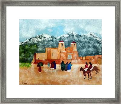 Framed Print featuring the photograph Pueblo Church by Joseph Frank Baraba