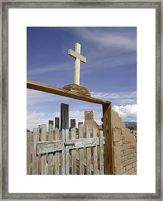 Pueblo Cross Framed Print