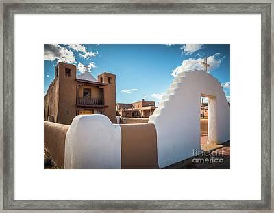 Pueblo De Taos Church Framed Print