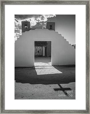 Pueblo De Taos Cross Framed Print