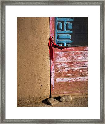 Pueblo Door Framed Print
