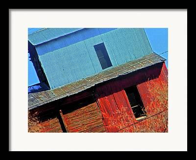 Feed Mill Digital Art Framed Prints