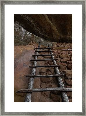 Pueblo Ladder Framed Print by Joseph Smith