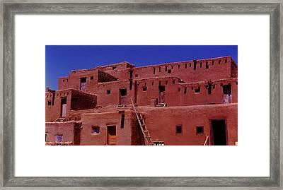 Pueblo Living Framed Print