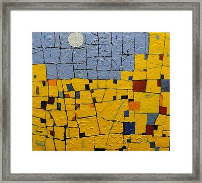 Pueblo Moon Framed Print
