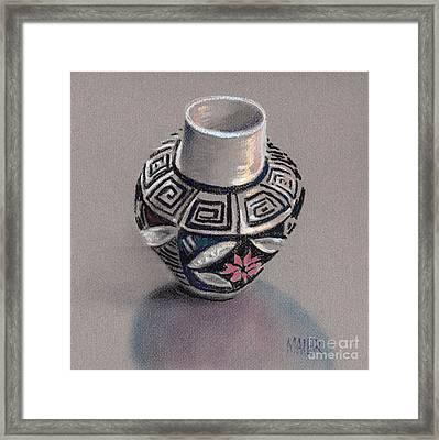 Pueblo Seed Jar Framed Print