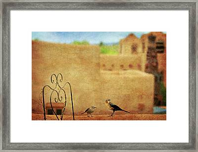 Framed Print featuring the photograph Pueblo Village Settlers by Diana Angstadt