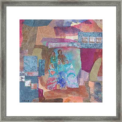 Pueblo Women At The Dance Framed Print by MtnWoman Silver