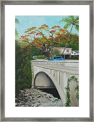 Puente En Adjuntas Framed Print by Gloria E Barreto-Rodriguez