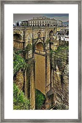 Puente Nuevo - Parador De Ronda Framed Print
