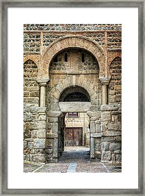 Puerta Alfonso Vi Toledo Spain Framed Print by Joan Carroll