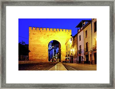 Framed Print featuring the photograph Puerta De Elvira by Fabrizio Troiani