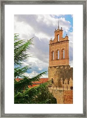 Puerta Del Carmen Avila Artistic Framed Print by Joan Carroll