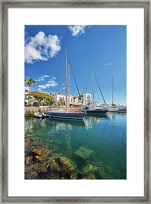 Framed Print featuring the photograph Puerto De Mogan by Marc Huebner