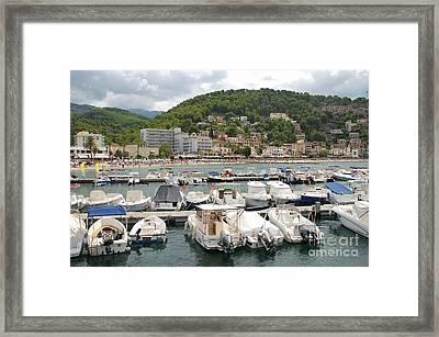 Puerto De Soller In Majorca Framed Print