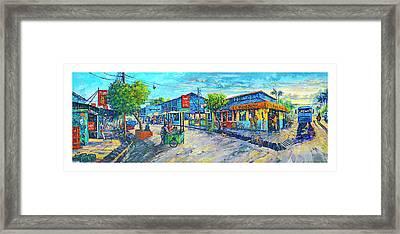 Puerto Jimenez Town Framed Print