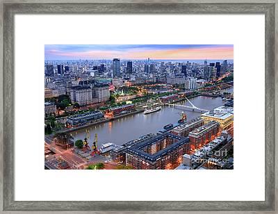 Puerto Madero Pier 3 Framed Print by Bernardo Galmarini