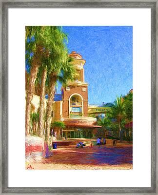 Puerto Paraiso Court Yard Framed Print by Gerhardt Isringhaus