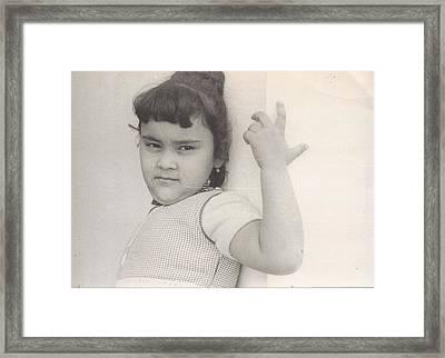 Puerto Rican-american Girl 1964 Framed Print by WaLdEmAr BoRrErO