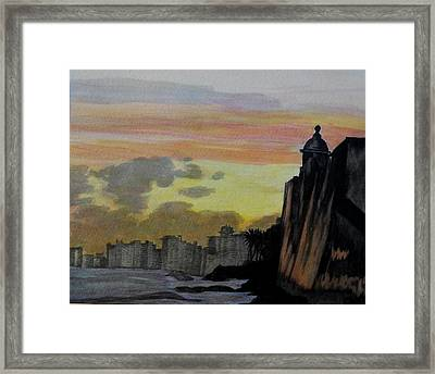 Puerto Rican Sunset Framed Print by Liz Borkhuis