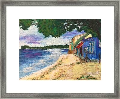 Western Shore Framed Print by Bryan Unruh