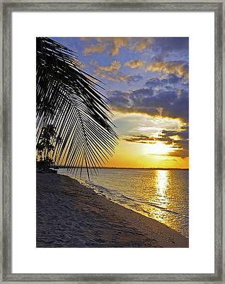 Puerto Rico Sunset 3 Framed Print by Stephen Anderson