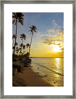Puerto Rico Sunset Framed Print by Stephen Anderson