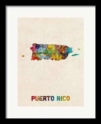 Caribbean Digital Art Framed Prints
