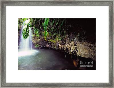 Puerto Rico Waterfall Framed Print by Thomas R Fletcher