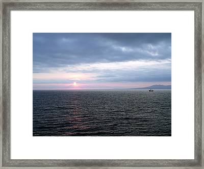Puerto Vallarta Bay At Sunset Framed Print