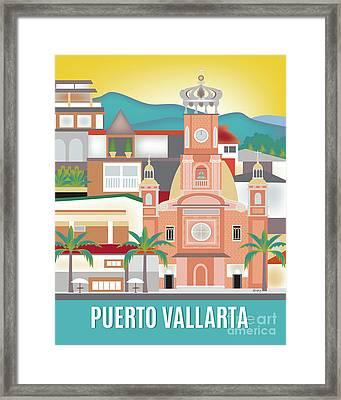 Puerto Vallarta Mexico Vertical Scene Framed Print