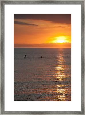 Puerto Vallarta Sunset Framed Print