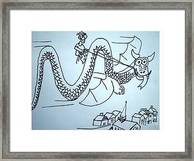 Puff The Magic Dragon Framed Print by Hal Newhouser
