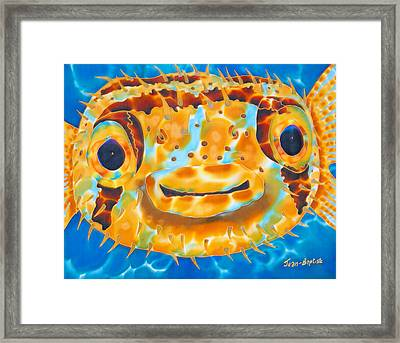 Puffer Fish Framed Print