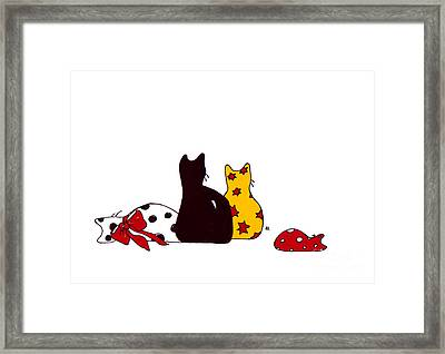 Puffie And Muffie Family Portrait Framed Print