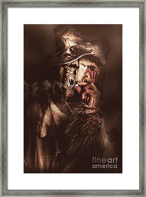 Puffing Billy The Smoking Scarecrow Framed Print by Jorgo Photography - Wall Art Gallery