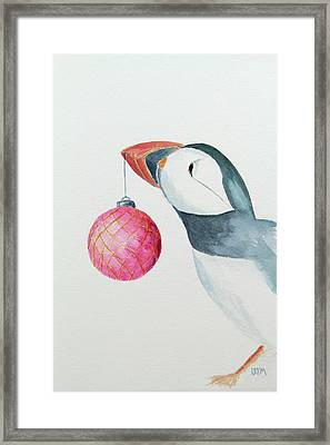 Puffin's First Christmas Framed Print by Doug Moore