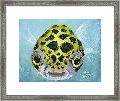Puffy Framed Print by Arleana Holtzmann