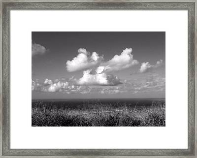 Puffy Clouds Framed Print