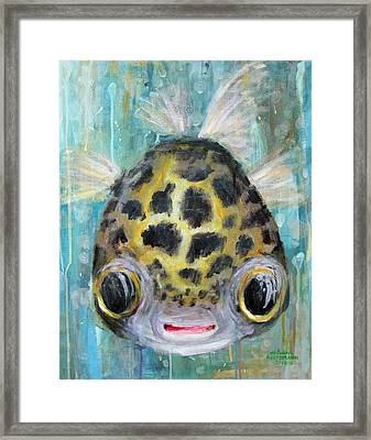 Puffy Underwater Framed Print by Arleana Holtzmann