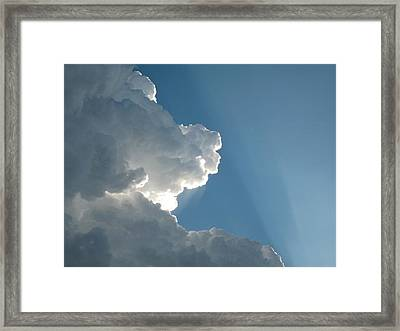 Puffy White Clouds Framed Print by Liz Vernand