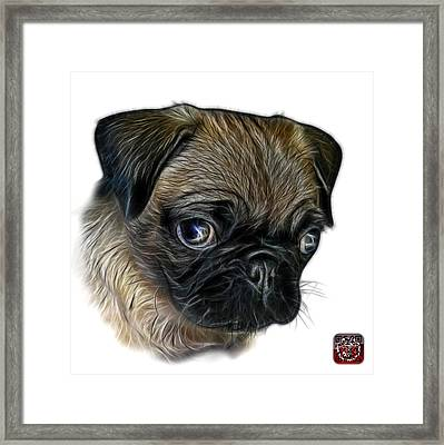 Framed Print featuring the digital art Pug -  9567 Fs W by James Ahn