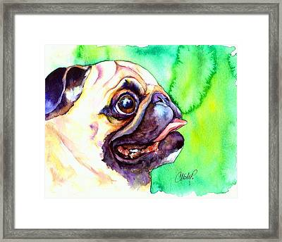Pug Profile Framed Print