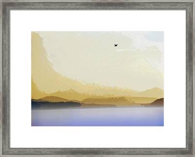 Puget Sound - Sunset Mist  Framed Print by Steve Ohlsen