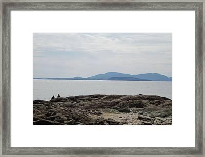 Puget Sound Islands Framed Print by J D Banks